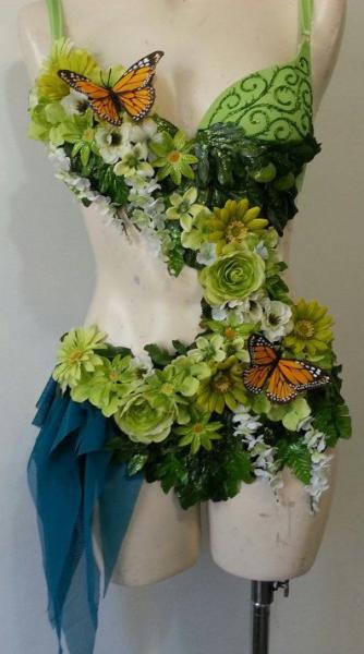 Inspiration costume de dryade monokini