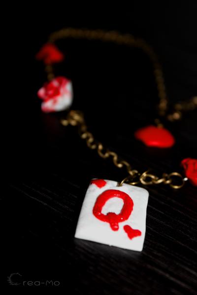 Le collier de la parure Reine de Coeur