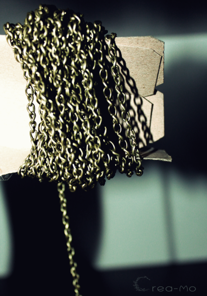 Commande perlemania chaine bronze