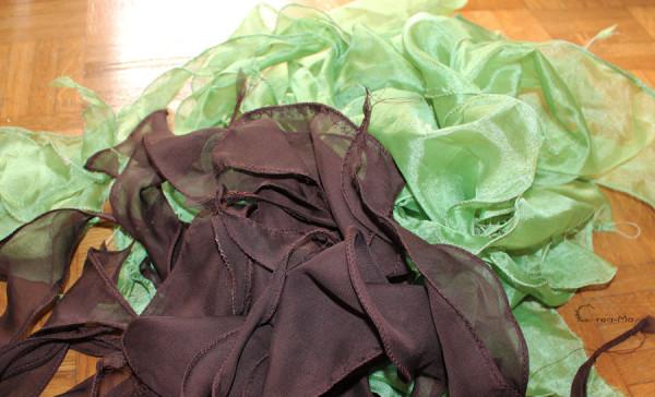 Bout de tissus pour la jupe