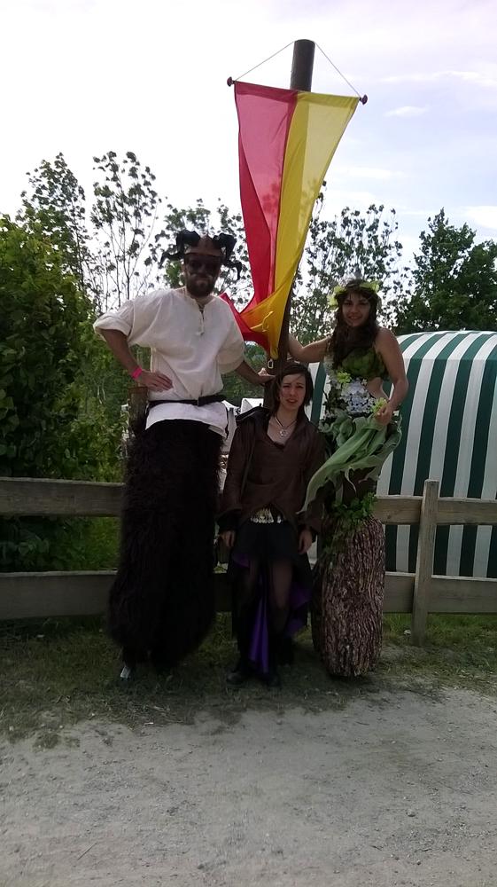 Costume de dryade et de faune aux grandes médiévales d'Andilly 2015
