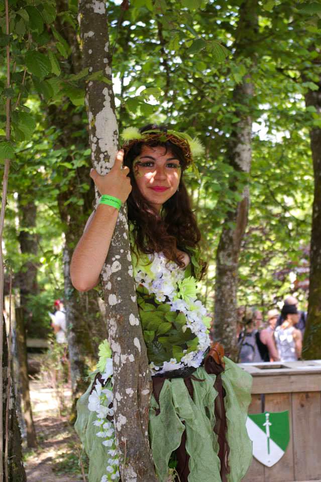 Costume de dryade à Andilly 2015