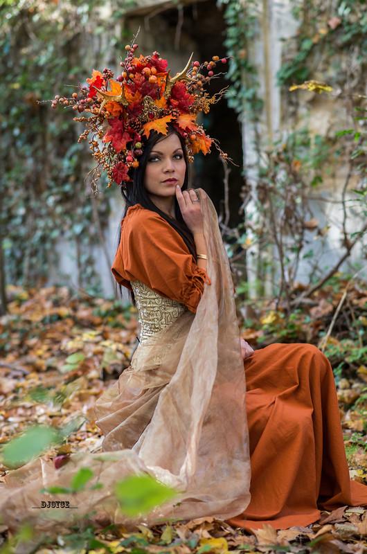 Couronne de feuille d'automne